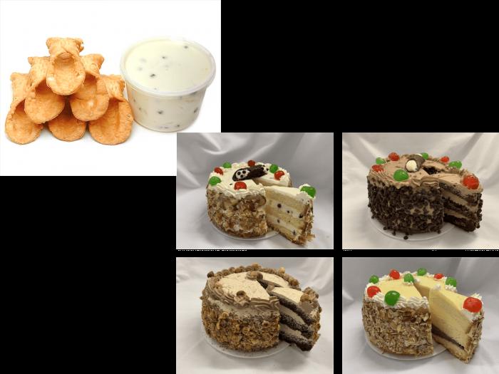 Six Cannoli & Choice of Cake